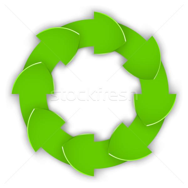 Vert papier ondulé cycle vecteur Photo stock © tuulijumala