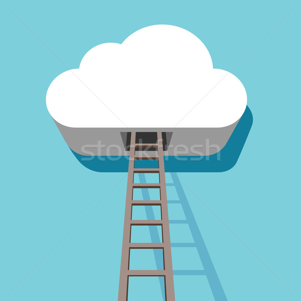 облаке лестнице ведущий внутри 3D дизайн шаблона Сток-фото © tuulijumala