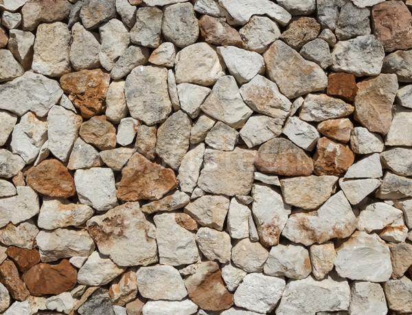 Végtelenített durva középkori kőfal absztrakt kő Stock fotó © tuulijumala
