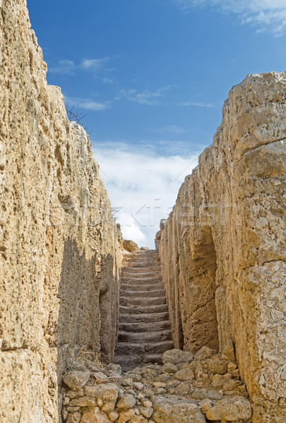 Ancient stairs in Paphos archeological park, Cyprus. Stock photo © tuulijumala