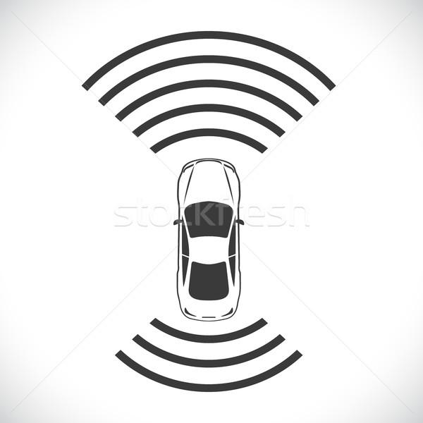 Driverless robotic car shape concept vector illustration. Stock photo © tuulijumala