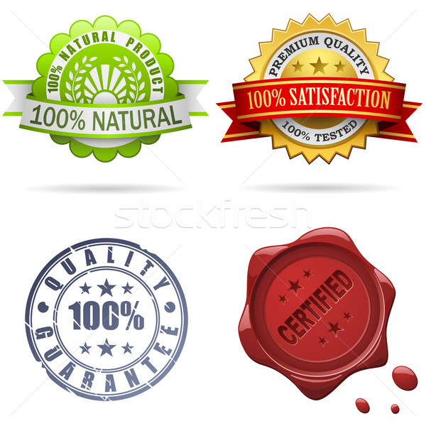 Quality labels and seals Stock photo © tuulijumala