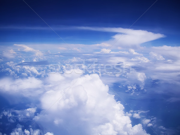 Blauwe hemel wolken landschap ruimte Stockfoto © tuulijumala