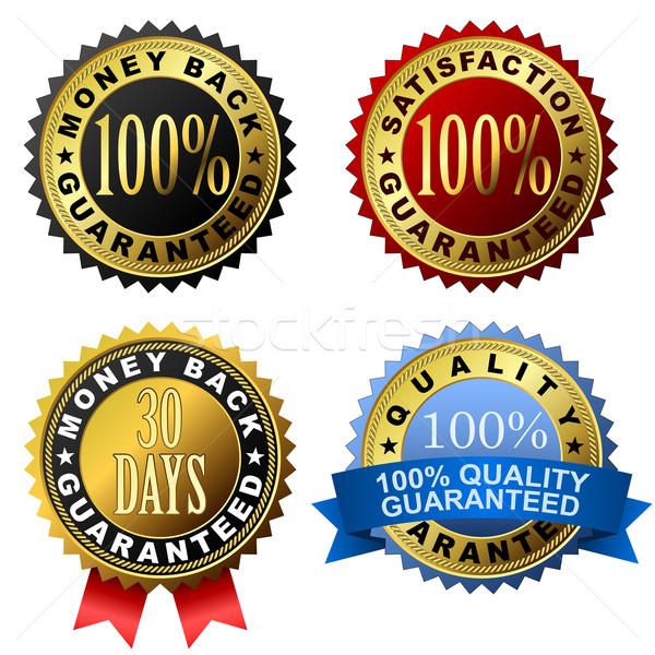 100 gwarantować złoty wektora zestaw Zdjęcia stock © tuulijumala