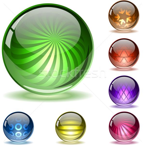 Colorful glossy spheres. Stock photo © tuulijumala