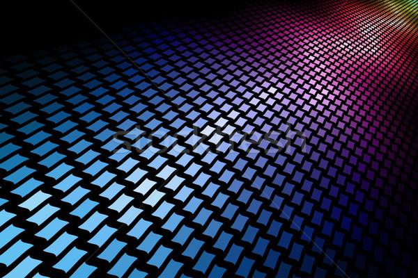 3D espectro mosaico horizontal preto cópia espaço Foto stock © tuulijumala