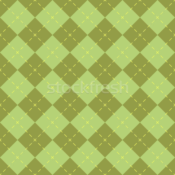 Seamless green diamond shape vector pattern. Stock photo © tuulijumala