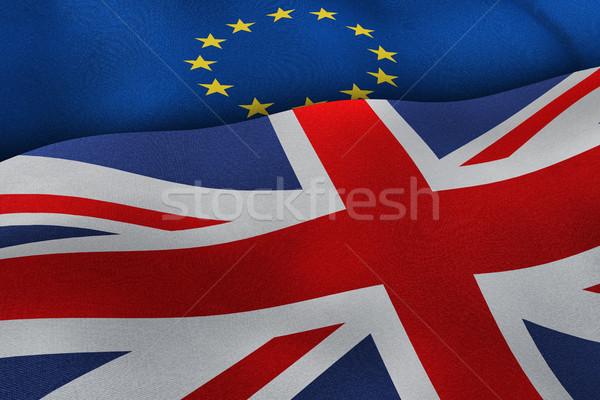 European Union and United Kingdom flags brexit concept backgroun Stock photo © tuulijumala