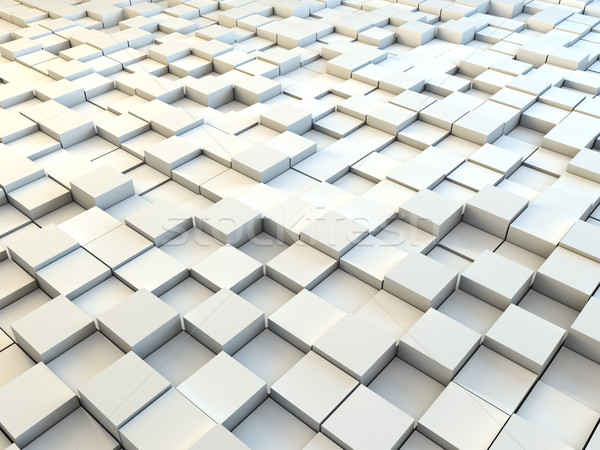 Abstract 3D white paper cubes background. Stock photo © tuulijumala