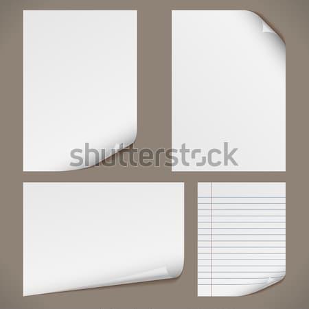 Stok fotoğraf: Kağıtları · kıvırcık · köşeler · notepad · sayfa · orijinal