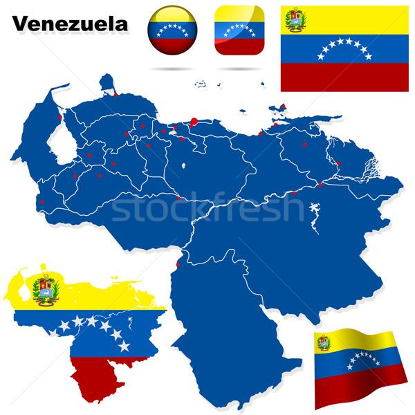 Venezuela vektor szett részletes vidék forma Stock fotó © tuulijumala