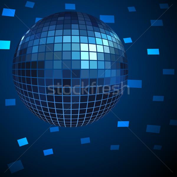 Blue Disco ball vector background. Stock photo © tuulijumala