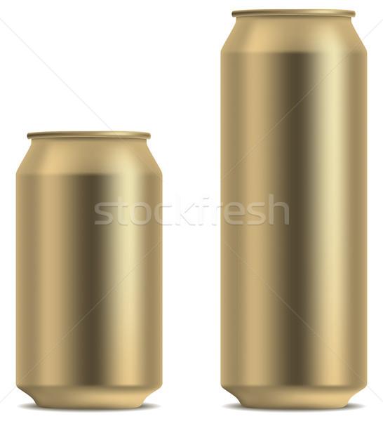 Blank yellow beer can Stock photo © tuulijumala