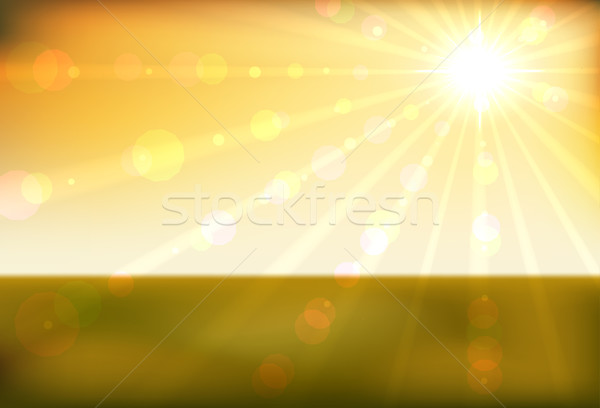 Gyönyörű naplemente vízszintes vektor eps10 akta Stock fotó © tuulijumala