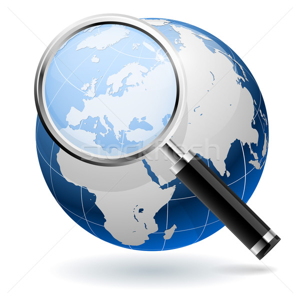 Global search concept isolated on white background. EPS10 file. Stock photo © tuulijumala