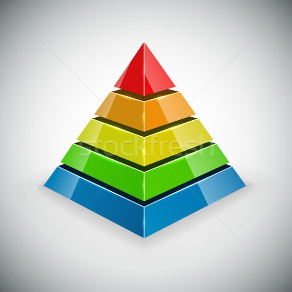 Piramis szín vektor dizájn elem diagram stúdió Stock fotó © tuulijumala