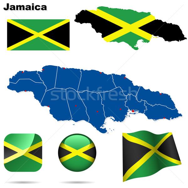 Jamaica vektor szett részletes vidék forma Stock fotó © tuulijumala