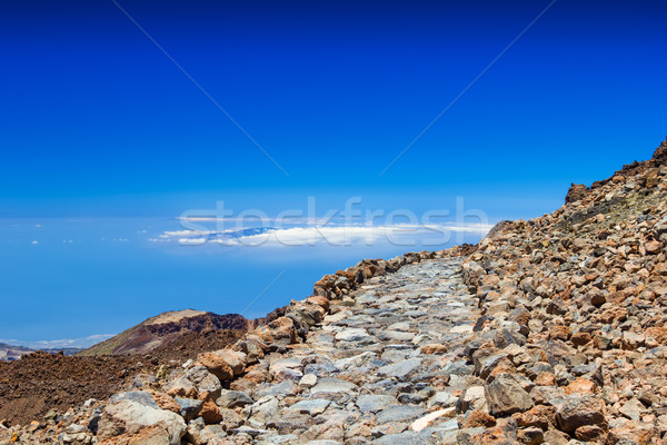 Pedra vulcão tenerife Espanha nuvens Foto stock © tuulijumala