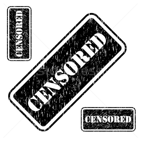 Censored stamp grungy imprint isolated on white background. Stock photo © tuulijumala