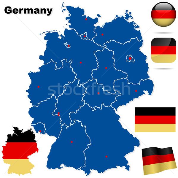 Almanya vektör ayarlamak ayrıntılı ülke biçim Stok fotoğraf © tuulijumala