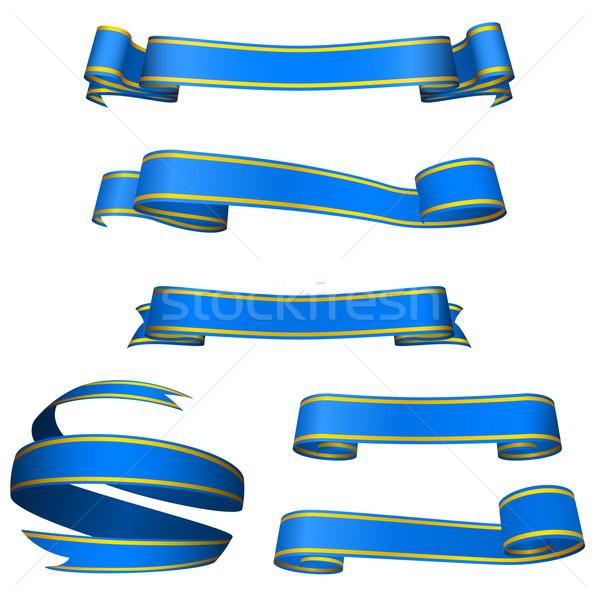 Vector ingesteld prachtig Blauw banners geïsoleerd Stockfoto © tuulijumala