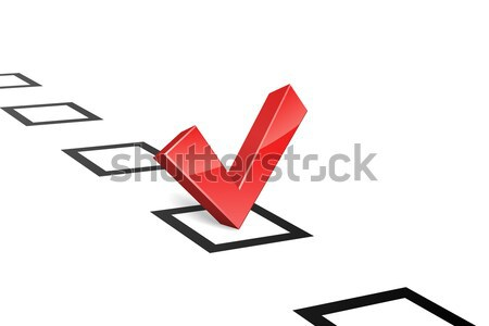 3D red vote tick concept vector illustration. Stock photo © tuulijumala