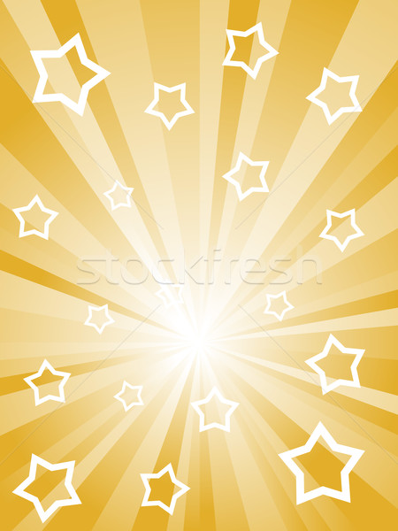 Abstract sunny rays with white stars and stripes. Stock photo © tuulijumala