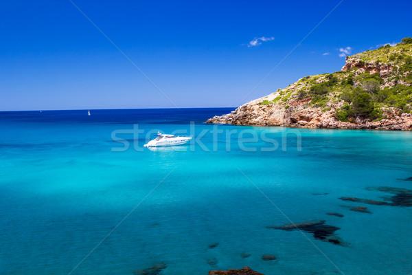Cala de Algariens seascape  in sunny day at Menorca, Spain. Stock photo © tuulijumala