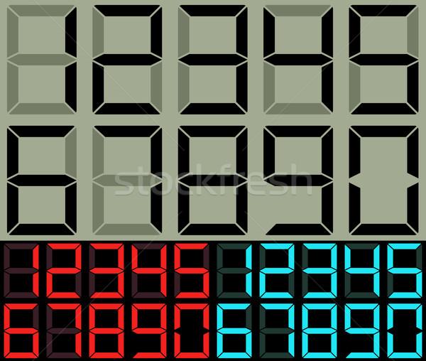 Calculadora tabela relógio dígitos vetor modelo Foto stock © tuulijumala