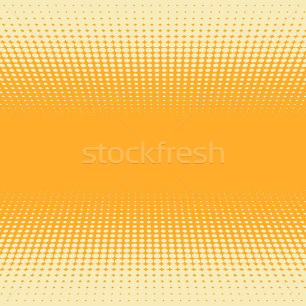 Laranja amarelo 3D perspectiva meio-tom vetor Foto stock © tuulijumala