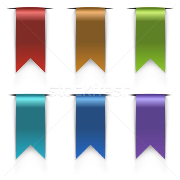 Color flag tags vector set Stock photo © tuulijumala