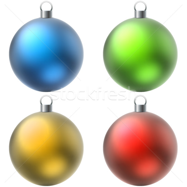 Kleur christmas ingesteld geïsoleerd witte Stockfoto © tuulijumala