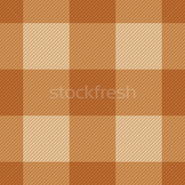 Seamless classic brown plaid checkered cloth vector pattern. Stock photo © tuulijumala