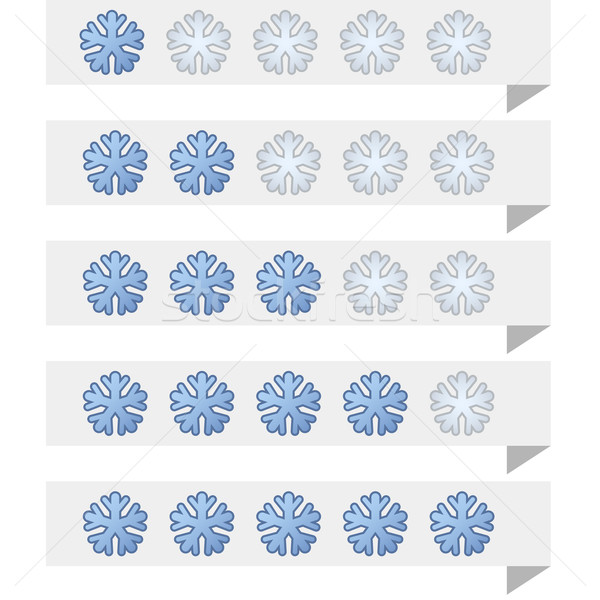 Snowflake shape ranking tags vector template. Stock photo © tuulijumala
