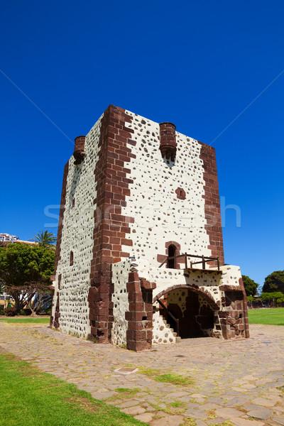 Torre del Conde Tower in sunny day at La Gomera island Stock photo © tuulijumala