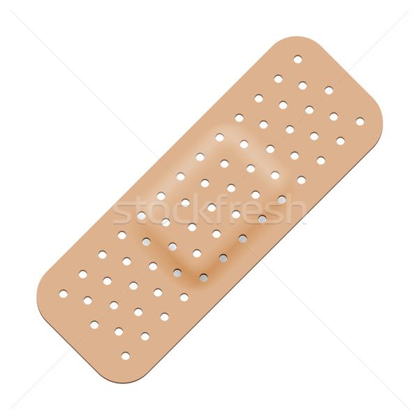 Medical adhesive bandage isolated on white background. Stock photo © tuulijumala