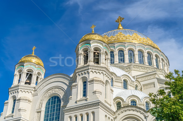 The Naval cathedral of Saint Nicholas in Kronstadt, Saint-Peters Stock photo © tuulijumala