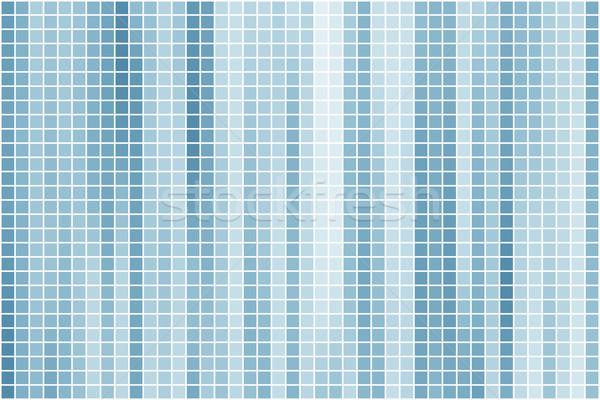 Soyut masmavi mavi kare karo vektör Stok fotoğraf © tuulijumala