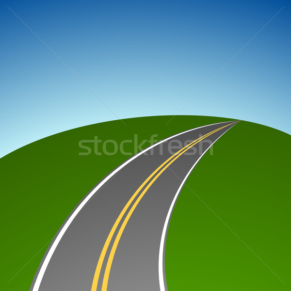 Abstract simple highway vanishing in distance vector background. Stock photo © tuulijumala