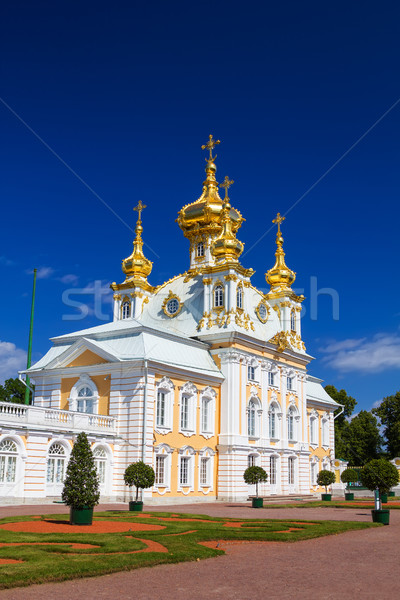 The East Chapel of The Peterhof Grand Palace in Saint-Petersburg Stock photo © tuulijumala