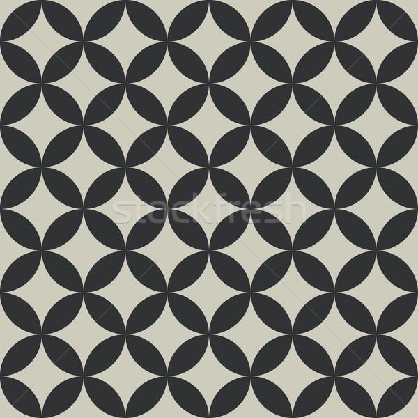 Seamless abstract intersecting circle shape pattern. Stock photo © tuulijumala