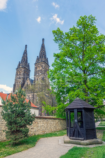 View on St. Peter & Paul Church from Vysehrad Park Stock photo © tuulijumala