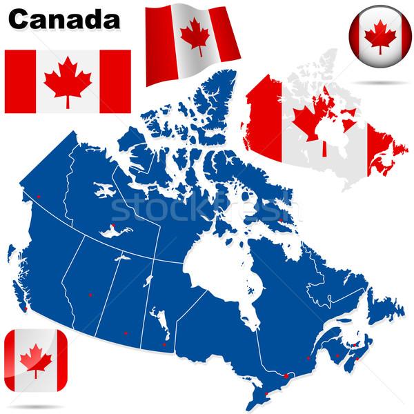 Сток-фото: Канада · вектора · набор · подробный · стране · форма