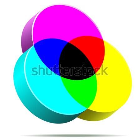 3D CMYK color icon isolated on white background. Stock photo © tuulijumala