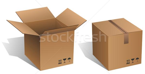 Stockfoto: Gesloten · vector · geïsoleerd · witte
