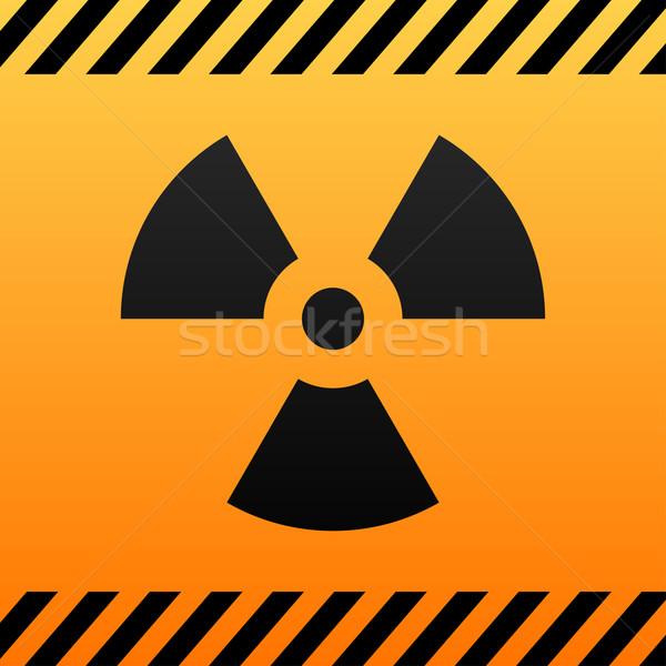 Bestraling risico vector zwarte Geel symbool Stockfoto © tuulijumala