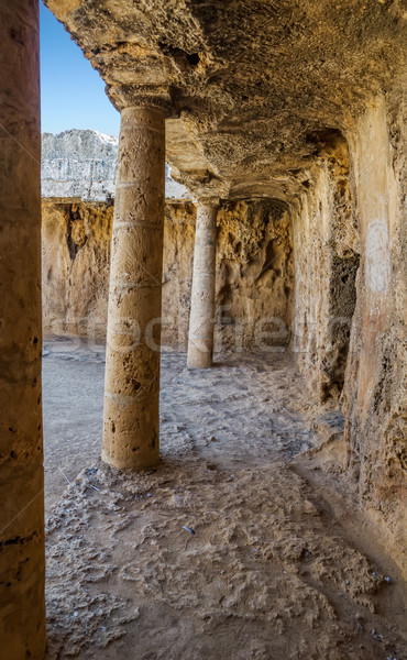 Interior of the Paphos necropolis known as Tombs of the Kings, C Stock photo © tuulijumala