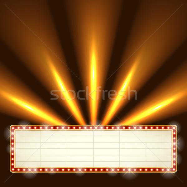 Blank illuminated marquee frame. Stock photo © tuulijumala