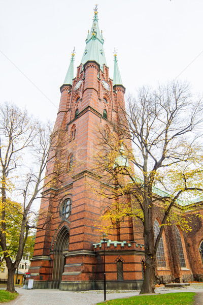 The Church of Saint Clare tower, Stockholm, Sweden. Stock photo © tuulijumala
