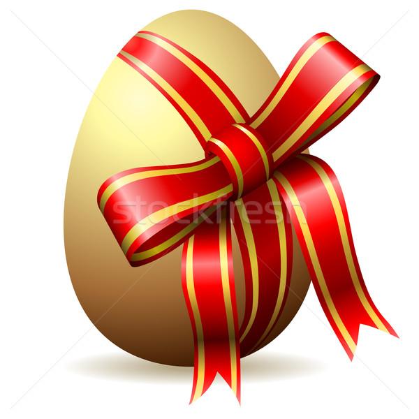 Easter egg dekoracyjny odizolowany biały Wielkanoc Zdjęcia stock © tuulijumala